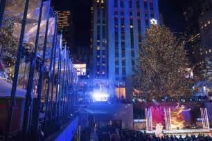 nyc christmas tree lighting 2017 rockefeller christmas tree lighting attracts thousands