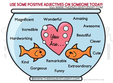 positive adjectives for learning site for students and teachers the student