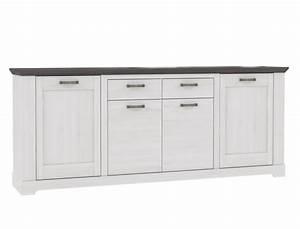 Sideboard Weiß Grau : sideboard gaston 7 weiss grau 225x93 cm schneeeiche anrichte kommode wohnbereiche esszimmer ~ Orissabook.com Haus und Dekorationen