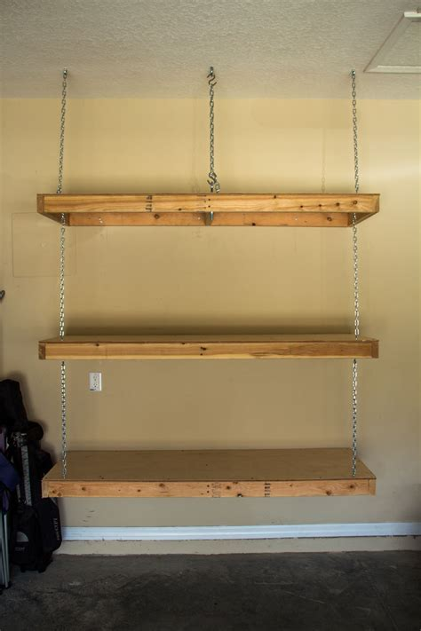 hanging garage shelves eye bolt  ceiling