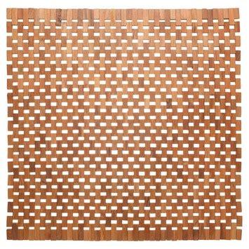 wc mat gamma gamma sealskin wc mat woodblock teak 60x60 cm kopen