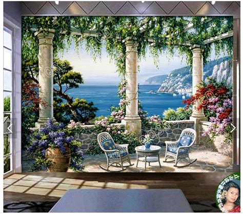 Popular Garden Wall Muralbuy Cheap Garden Wall Mural Lots