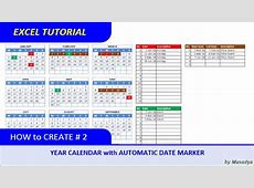 How to Create Excel Calendar for Specific Year with