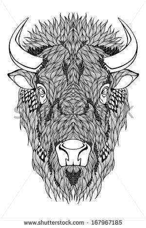 stock-vector-bison-mascot-head-tattoo-167967185.jpg (300