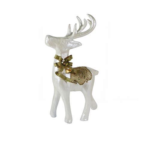 paper mache reindeer white gold