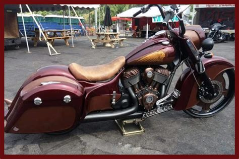 Stacked Classic Stretched Indian Motorcycle Dash