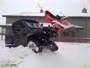 Polaris Ranger Snow Plow with Tracks