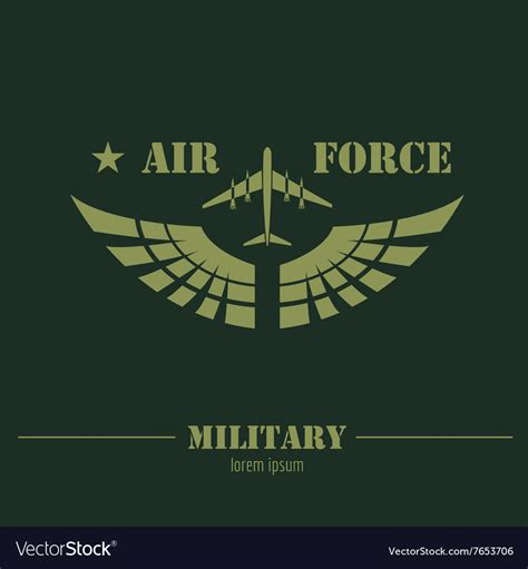 (see also licenses for dev. Military logo and badge Air force Graphic template Royalty ...