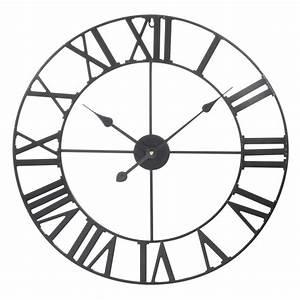 Horloge En Metal : horloge en m tal noire d 60 cm m cano maisons du monde ~ Teatrodelosmanantiales.com Idées de Décoration
