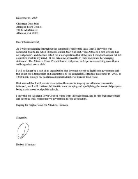 Formal Letter Of Resignation Template  Formal Letter Template