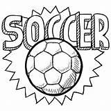Soccer Printable Balls Ball Coloring sketch template