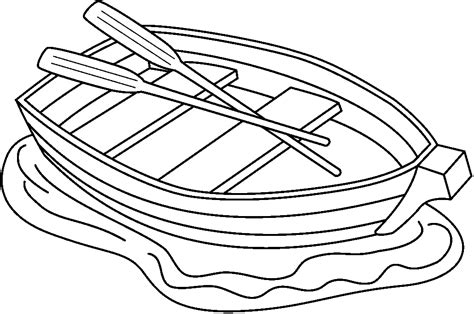 Boat Clipart Black And White Free by Free Canoe Clip Black And White Outline Sketch