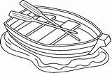 Boat Clipart Row Clip Coloring Outline Rowboats Sketch Canoe Rowing Template Clipground Bw Google Cliparts Boats Bee Pages Figuras Del sketch template