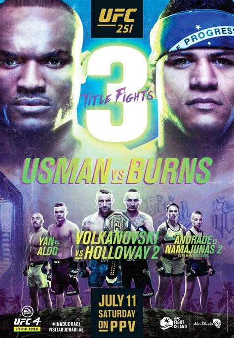 ufc  poster  usman  burns featuring championship tripleheader mmamaniacom