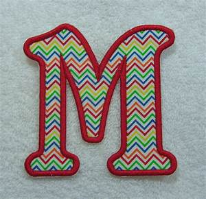 4 inch emma monogram letter fabric embroidered iron on With monogram fabric letters