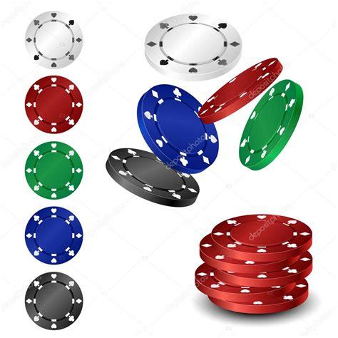 poker chip set stock vector  helioshammer