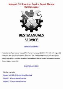 Malaguti F12 Phantom Service Repair Manual Mu By Karima