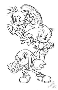 Classic Super Sonic Free Colouring Pages
