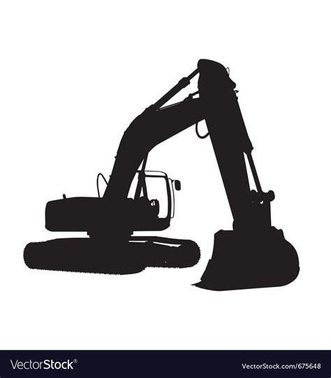 excavator silhouette royalty  vector image