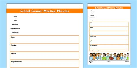 school council meeting minutes template school council meeting minutes