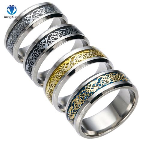 4 colors vintage gold free shipping 316l stainless steel ring mens jewelry for lord