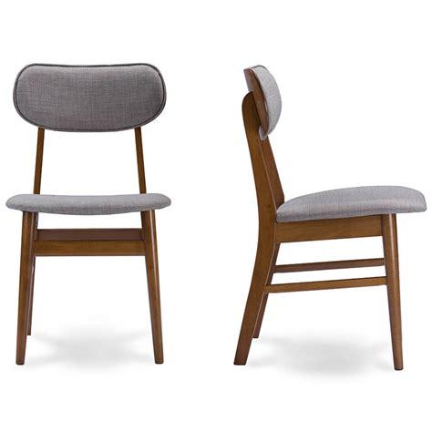 joma grey fabric mid century chair 2 set modern