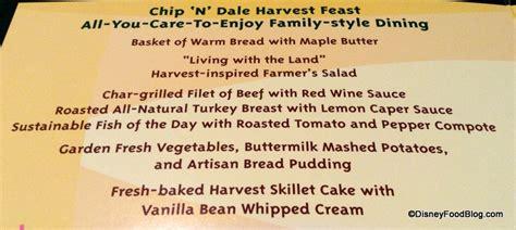garden grill menu review dinner at garden grill restaurant in disney world