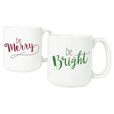 Choose from contactless same day delivery, drive up and more. 2ct Merry & Bright Coffee Mug : Target