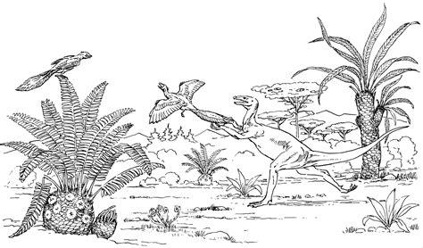 dino jagt flugsaurier ausmalbild malvorlage tiere