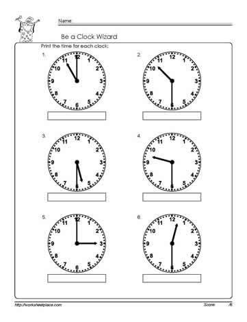 telling time half hour worksheet 2 1st grade math
