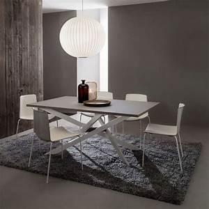 Salle A Manger Design : table de salle manger design extensible en fenix renzo 4 ~ Teatrodelosmanantiales.com Idées de Décoration