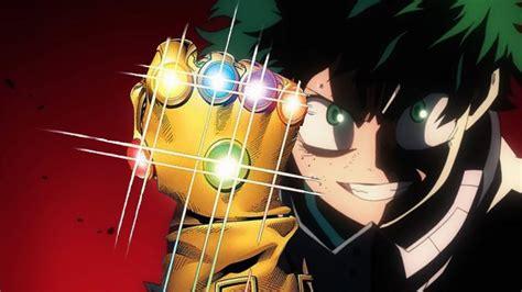 hero academia ecco il video  avengers infinity war