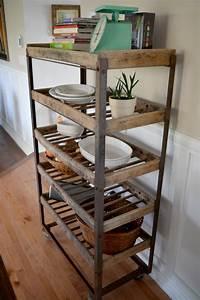 Etagere Metal Et Bois : etagere industrielle bois metal ~ Teatrodelosmanantiales.com Idées de Décoration