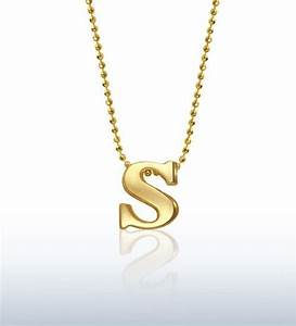 alex woo jewelry little letter s in 14kt yellow gold With alex woo letter necklace
