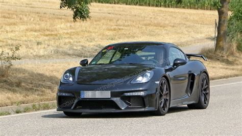 Porsche 718 Photo by New Porsche 718 Cayman Gt4 Snapped Without Camo Car Magazine
