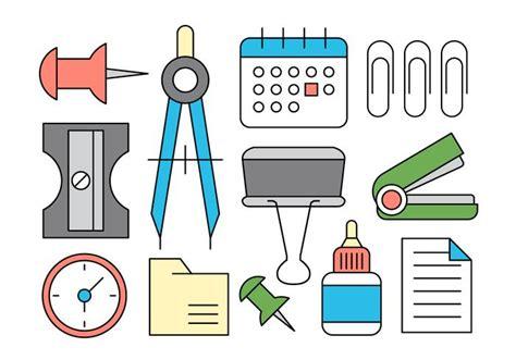 Office Supplies Vector by Office Supplies Vector Icons Free Vectors