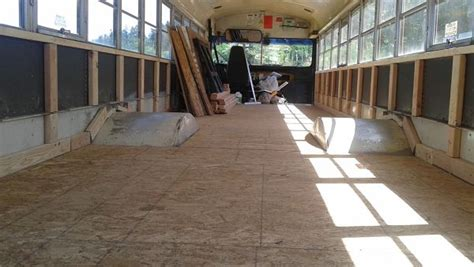 school conversion school bus conversion wall framing and insulation the bus experience