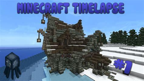 minecraft snowy village tavern timelapse ep youtube