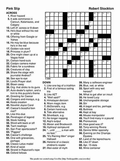 Puzzles Word Printable Easy Crossword Adults Mark