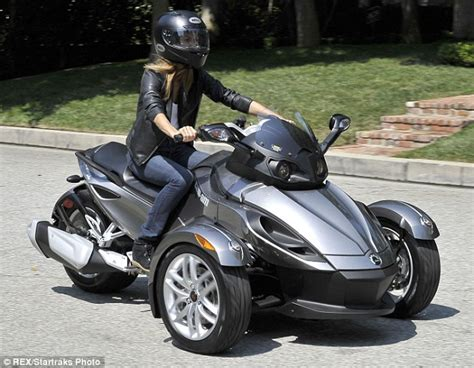 Stacy Keibler Goes Hell For Leather On Three-wheeled