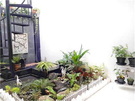 desain taman rumah kecil minimalis mungil lahan sempit