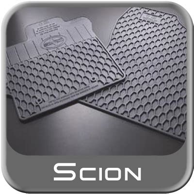 Scion Tc Floor Mat by 2011 2013 Scion Tc Rubber Floor Mats All Weather Charcoal