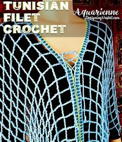 Crochet Tunisian Filet Pattern Gauge Tips Companion