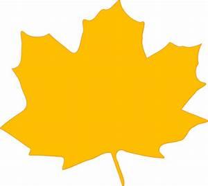 Yellow Fall Leaf Clip Art at Clker.com - vector clip art ...