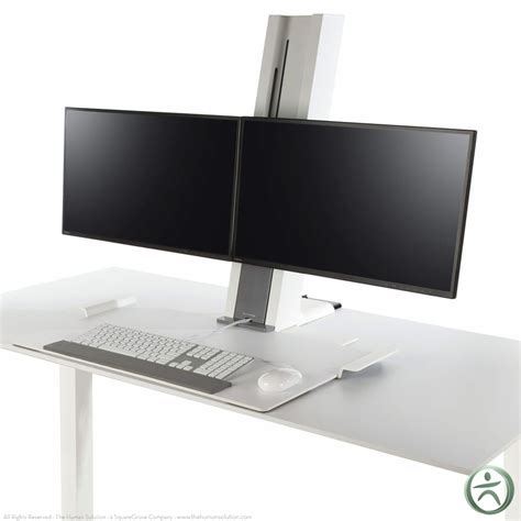 Humanscale Dual Monitor Standing Desk by Humanscale Quickstand Adjustable Workstation Dual Monitor