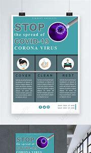 Stop covid-19 coronavirus poster template image_picture ...