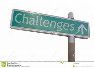 Challenges Sign stock image. Image of navigate, challenges ...