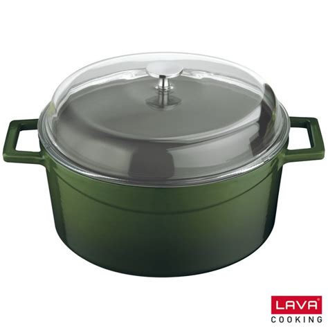 cuisiner avec une cocotte en fonte cocotte verte en fonte émaillée avec couvercle en verre lava