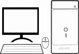 Computer Screen Clipart Black And White | Clipart Panda ...