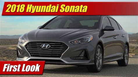 First Look 2018 Hyundai Sonata Testdriventv